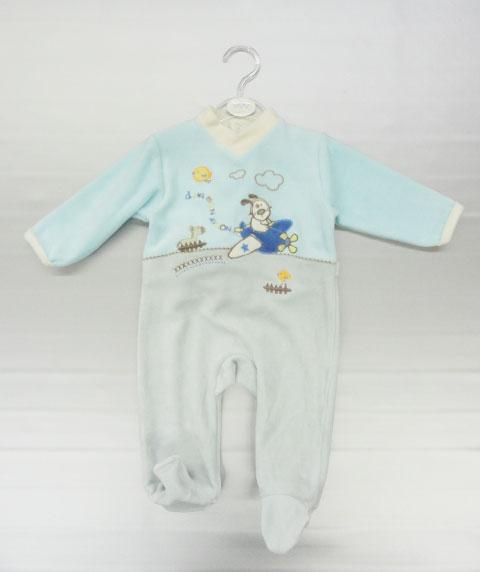 Grenouillère bébé garçon, 76% coton/24% polyester, du 1 au 23 mois.