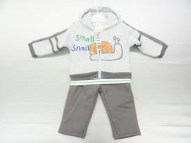 ensemble Jogging garcon, 3 pièces : sweat avec capuche, Tee-shirt et pantalon du 3 au 24 mois