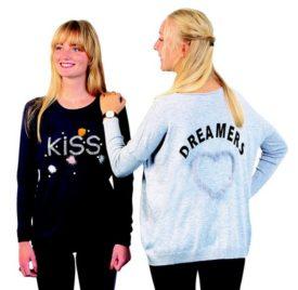 pull femme kiss et dreamers