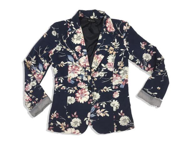 veste femme fleurie l 39 oiseau bleu tout le textile aux meilleurs prix l 39 oiseau bleu tout. Black Bedroom Furniture Sets. Home Design Ideas